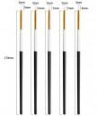 5 Pennelli Medi di 3 mm in Silicone