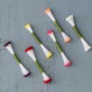50 Pistilli Medi 3 mm Bianchi per fiori in Gum paste