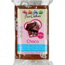 Aromatizzata Cioccolato. Pasta di zucchero Marrone Funcakes. 250 gr.