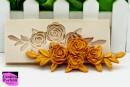 Bordo di un mazzo di Rose con Foglie. Stampo in silicone