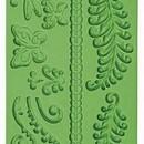 Bosco Felci e Farfalle. Stampo in silicone con 11 motivi più 2 bordure.