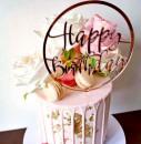 Buon Compleanno in Oro Rosa. Happy Birthday. Cake Topper
