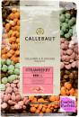 Cioccolato in gocce colorato e aromatizzato alla fragola. Callebaut