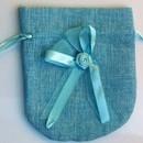 Confezione di 12 Sacchetti 14 x 12.5 cm in Tessuto.