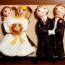 Coppia Sposi Gay Arcobaleno sia uomo che donna. Stampo in silicone