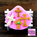Croce decorata. Stampo in silicone ad alta definizione