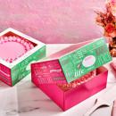 Elegante Scatola per Torta e Dolci. 26 x 26 x 12 cm. Set di 2 scatole