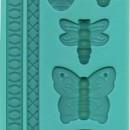 Farfalle Api Coccinelle e Libellule più 2 Bordure. Stampo in silicone