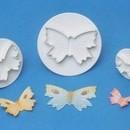 Farfalle. Set 3 Stampi espulsione di varie dimensioni Tagliapasta.