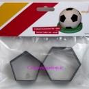 Kit Medio 6 cm Esagono e Pentagono per realizzare un Pallone da Calcio. Dekofee Soccer Cutter Small Set/2. Originale Dekofee