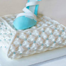 Large Easy Fabric Puff. Elegante Bordo in silicone