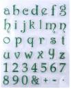 Lettere Alfabeto Corsivo e Numeri a Timbro trasferibili da dipingere
