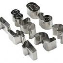 Numeri In metallo. Stampi incisione Tagliapasta Set di 10 stampi.