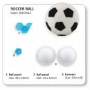Pallone Calcio. Set di 2 Semisfere con stampo di Esagono e Pentagono.