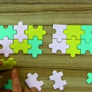 Puzzle. Set di 3 Multi Tagliapasta Geometrici. PME
