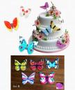 Set B. Farfalle volanti in Wafer Paper edibili. Cake Topper