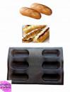 Stampo Microforato. Hot dog. In silicone e fibra di vetro