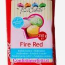 Rosso Fuoco. Pasta di zucchero FunCakes. 250 gr. Senza Glutine e Kosher