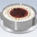 Anello Altezza 6 cm Cornice Regolabile in metallo per torte.