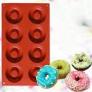 8 Ciambelle. Stampo Platinico di alta qualità