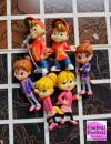 Alvin and the Chipmunks. Fantastico set di 6 statuine in PVC