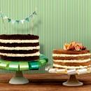 CAKE SKIRT - Decorazione per Torte Festoni grandi fiocchi. Diametro 34 cm.