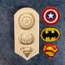 Capitan America Batman e Superman. Stampo in silicone