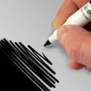 Doppia Punta. Nero Brillante. Pennarello Alimentare con 2 punte di 0,5 mm e di 2,5 mm. Rainbow Dust Food Art Pen