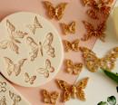 Farfalle decorate. Stampo in silicone con 6 dimensioni