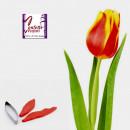 stampo silicone foglia Tulipano con cutter in metallo