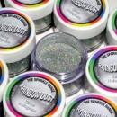 Glitters Argento. RD Sparkles Decorativi Hologram Silver. Rainbow Dust