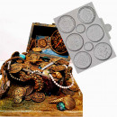Monete del Tesoro. Stampo in silicone