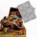 Monete e Dobloni del Tesoro. Stampo in silicone