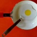 Spatola porta Uovo a forma di Cuore