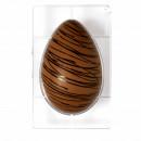 Stampo Uovo di Cioccolato. 350 gr. con 1 Cavità. Policarbonato Rigido. Decora