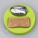 Tastiera Computer e Mouse. Stampo in silicone