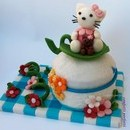Torta decorata in pasta di zucchero Hello Kitty