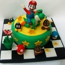 Torta decorata in pasta di zucchero Mario Bros 2