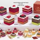 Tortina quadrata  e portachiavi  portaconfetti in porcellana