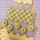 Wedding Cake e Torte matrimoniali. Set 4 Stampi espulsione Tagliapasta di varie misure.