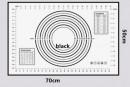 XXL 500 x 700 Grande Tappetino graduato Antiaderente in silicone