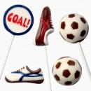 Calcio. Stampo in policarbonato flessibile. PME Football Soccer Candy Mould.