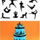 Ginnastica Yoga. Stampo Tagliapasta