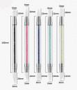 5 Pennelli con 10 Punte diverse 6 mm in Silicone