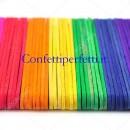 50 Stecche Gelato h. 11 cm. Colorate in Legno.