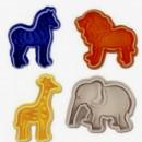 Animali Zoo. Set di 4 stampi ad espulsione Tagliapasta