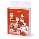 Babbo Natale Pupazzo di Neve GingerBread Orsetto. Confezione di 6 personaggi in pasta di zucchero