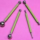 Ball Tool o Bulino in Metallo 4 pezzi per la decorazione di Fiori.
