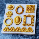 Diademi Specchi e Cornice. Stampo in silicone