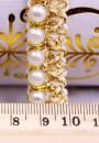 Elegante Filo Perle con ricami dorati